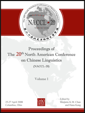 Proceedings of the NACCL-20 (2008)  Conference.
